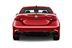 Straight rear view of 2018 Alfa Romeo Guilia Auto 4 Door Sedan stock images