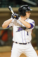 Kyle Shelton #4 of the Winston-Salem Dash at bat against the Frederick Keys at BB&T Ballpark on May 29, 2012 in Winston-Salem, North Carolina.  The Dash defeated the Keys 8-7.  (Brian Westerholt/Four Seam Images)