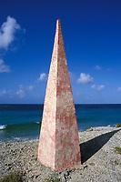 red salt marker, Bonaire Netherland Antilles (Dutch ABC Islands) (Caribbean, Atlantic)