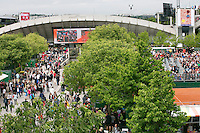 France, Paris, 25.05.2014. Tennis, Roland Garros, Court Susan Lennglen<br /> Photo:Tennisimages/Henk Koster