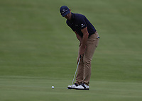 12th July 2021; The Royal St. George's Golf Club, Sandwich, Kent, England; The 149th Open Golf Championship, practice day; Billy Horschel (USA) putts on the 18th green