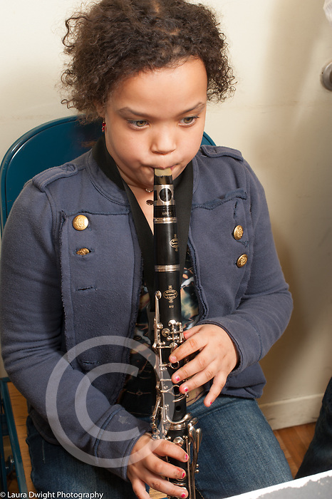 9 year old girl playing clarinet