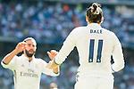 Real Madrid's player Daniel Carvajal and Gareth Bale during a match of La Liga Santander at Santiago Bernabeu Stadium in Madrid. October 02, Spain. 2016. (ALTERPHOTOS/BorjaB.Hojas)