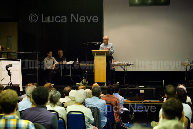 """Ken Loach (British film and television director).  <br /> <br /> London, 15/09/2016. Today, """"Media Reform Coalition"""", held a meeting at Student Central in Malet street called """"The Media, The Movements and Jeremy Corbyn"""". From the organisers press release: <<[…] As part of the Media Reform Coalition's ongoing campaign for a media that informs, represents and empowers the public, this event will bring together media activists, workers and scholars to explore the media's misrepresentation of progressive movements and voices and shape a response that does them justice […]>>. <br /> Speakers included: Ken Loach, film and television Director; Justin Schlosbergd, media activist, researcher and Lecturer at Birkbeck University of London; Greg Philo, Professor and Director of Glasgow University Media Unit; Kam Sandhu, co-founder of Real Media; Chris Nineham, National Officer of Stop The War Coalition; James Schneider, National Organiser of Momentum; Angela Towers member of No More Page 3 Campaign; Des Freedman Chair of the event, member of the Media Reform Coalition and Professor of Media and Communications in the Department of Media and Communications at Goldsmiths, University of London.<br /> <br /> For more information please click here: http://www.mediareform.org.uk/blog/5-myths-corbyn-media-bias-labour & https://www.facebook.com/MediaReformUK/?fref=ts<br /> <br /> For the Video of the Event please click here: https://www.youtube.com/watch?v=mNbRpjy51Io"""
