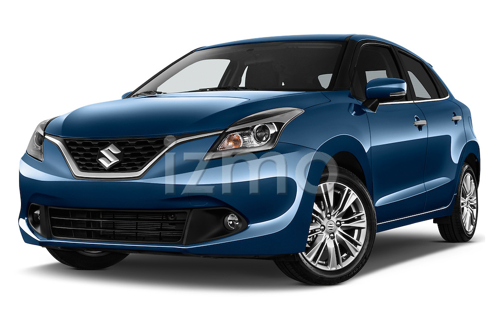Stock pictures of low aggressive front three quarter view of 2016 Suzuki Baleno Skycruise 2 Door Convertible Low Aggressive