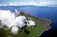 Smoking volcano of Lopevi Island, Vanuatu.