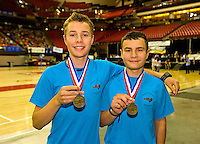 North Carolina students Quinn Schneider (left) and Ethan Schneider took first place in the junior group documentary category for the 2013 National History Day event. National History Day (NHD) is a highly regarded academic program for elementary and secondary school students. Each year, more than half a million students, encouraged by thousands of teachers nationwide participate in the NHD contest. Students choose historical topics related to a theme and conduct extensive primary and secondary research through libraries, archives, museums, oral history interviews and historic sites. After analyzing and interpreting their sources and drawing conclusions about their topics' significance in history, students present their work in original papers, websites, exhibits, performances and documentaries. These products are entered into competitions in the spring at local, state and national levels where they are evaluated by professional historians and educators. The program culminates in the Kenneth E. Behring National Contest each June held at the University of Maryland at College Park.