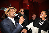 NEW YORK, NY- SEPTEMBER 12: Suoper Cat, Swizz Beatz and Alicia Keys pictured at Swizz Beatz Surprise Birthday Party at Little Sister in New York City on September 12, 2021. Credit: Walik Goshorn/MediaPunch
