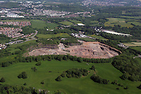 Aerial view of quarry near Bridgend