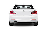 Straight rear view of a 2015 BMW 2 Series 228I Sport 2 Door Coupe 2WD Rear View  stock images