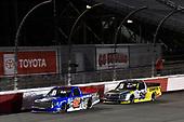 #52: Stewart Friesen, Halmar Friesen Racing, Toyota Tundra Halmar Racing To Beat Hunger #98: Grant Enfinger, ThorSport Racing, Ford F-150 Champion/Curb Records