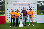 Group 10 pose with Sir Nick Faldo prior to day 3 of the 9th Faldo Series Asia Grand Final 2014 golf tournament on March 20, 2015 at Faldo course in Mid Valley Golf Club in Shenzhen, China. Photo by Xaume Olleros / Power Sport Images