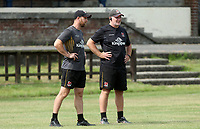 Friday 23rd July 2021; Willie Faloon and Dan Soper during Ulster Rugby Pre-Season Training held at Pirrie Park, Belfast, Northern Ireland. Photo by John Dickson/Dicksondigital