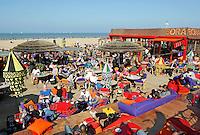 Terras op het strand in Scheveningen