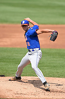 Connor Green (12) of St. Georges Independent School in Collierville, Tennessee playing for the New York Mets scout team during the East Coast Pro Showcase on August 1, 2014 at NBT Bank Stadium in Syracuse, New York.  (Mike Janes/Four Seam Images)