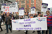 Camden Age Concern, TUC March for the Alternative protest against public spending cuts, London.
