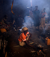 In Matua one of the school buildings is being used for cooking. Shimu is the national dish made out of corn flour. Sometimes eaten with fish or fowl but most can not afford this luxury often. The luxury of fish that will be even scarcer with the distance from the river.
