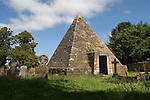 John Fuller of Brightling Sussex 1757-1834. The Pyramid Folly, St Thomas a Becket church. Brightling Parish Church churchyard.