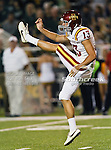 Iowa State Cyclones punter Kirby Van Der Kamp (13) in action during the game between the Iowa State Cyclones and the Baylor Bears at the Floyd Casey Stadium in Waco, Texas. Baylor defeats Iowa State 49 to 26.