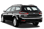 Rear three quarter view of 2011 Ford Mondeo Trend Wagon Stock Photo