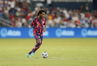KANSAS CITY, KS - JULY 15: Gianluca Busio #6 of the United States moves with the ball during a game between Martinique and USMNT at Children's Mercy Park on July 15, 2021 in Kansas City, Kansas.