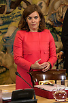 The Vice President Soraya Sáenz de Santamaria during a royal audience with the board of the Carolina Fundation at Zarzuela Palace in Madrid, Spain. June 17, 2015.<br />  (ALTERPHOTOS/BorjaB.Hojas)