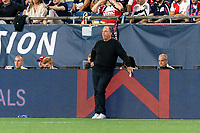FOXBOROUGH, MA - AUGUST 18: New England Revolution coach Bruce Arena during a game between D.C. United and New England Revolution at Gillette Stadium on August 18, 2021 in Foxborough, Massachusetts.