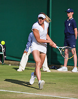 29-06-13, England, London,  AELTC, Wimbledon, Tennis, Wimbledon 2013, Day six, Kala Kanepi (EST)<br /> <br /> <br /> <br /> Photo: Henk Koster
