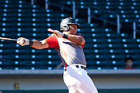 Adner Mercado (16) of Puerto Rico Baseball Academy in Juan Diaz, Puerto Rico during the Baseball Factory All-America Pre-Season Tournament, powered by Under Armour, on January 13, 2018 at Sloan Park Complex in Mesa, Arizona.  (Freek Bouw/Four Seam Images)