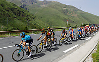11th July 2021, Ceret, Pyrénées-Orientales, France; Tour de France cycling tour, stage 15, Ceret to  Andorre-La-Vieille;    IZAGUIRRE INSAUSTI Ion (ESP) of ASTANA - PREMIER TECH, VAN AERT Wout (BEL) of JUMBO - VISMA, KRUIJSWIJK Steven (NED) of JUMBO - VISMA, KUSS Sepp (USA) of JUMBO - VISMA during stage 15 of the 108th edition of the 2021 Tour de France cycling race, a stage of 191,3 kms between Ceret and Andorre-La-Vieille.