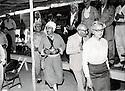 Iraq 1970 .Nawpurdan: 8th  congress of KDP,  left to right, Nouri Shawess, Mustafa Barzani, Kamuran Bedir Khan and his wife Natacha.<br /> Irak 1970.Nawpuedan:Le 8eme congres du KDP, de gauche a droite, Nouri Shawess, Mustafa Barzani, kamuran Bedir  Khan et sa femme Natacha