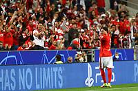 29th September 2021: Estadio da Luz, Lisbon, Portugal;  UEFA Champions league group E,  S.L.Benfica versus Barcelona; Darwin Nunez S.L.Benfica celebrates his goal with the home fans