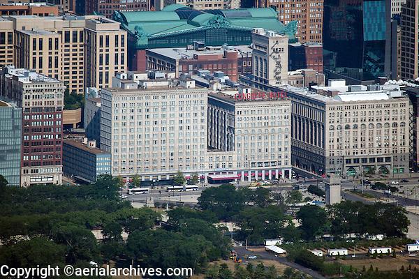 aerial photograph Congress Hotel, Chicago, Illinois