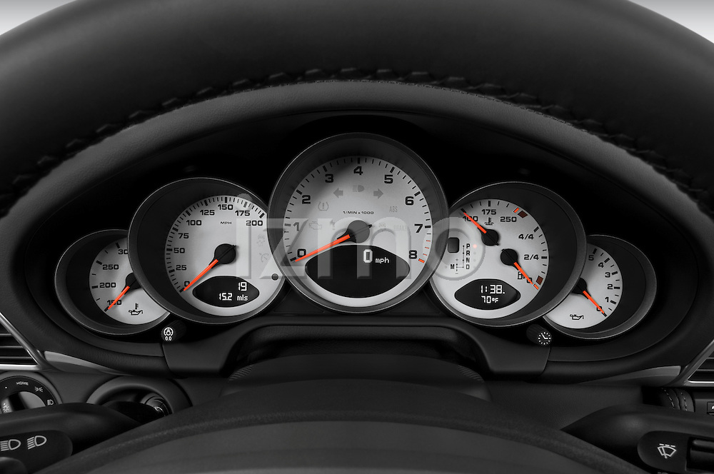 Instrument panel close up detail view of a 2009 Porsche Carrera 4S Coupe