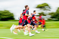 Wednesday 26 July 2017<br /> Pictured: Angel Rangel of Swansea City during training <br /> Re: Swansea City FC Training session takes place at the Fairwood Training Ground, Swansea, Wales, UK