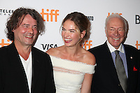 DIRECTOR DAVID LEVEAUX, LILY JAMES AND CHRISTOPHER PLUMMER - RED CARPET OF THE FILM 'THE EXCEPTION' - 41ST TORONTO INTERNATIONAL FILM FESTIVAL 2016 . 15/09/2016. # FESTIVAL INTERNATIONAL DU FILM DE TORONTO 2016