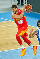 Marc Gasol of Spain in action during  European basketball championship Eurobasket 2013, round 2, group F basketball game between Greece and Spain in Stozice Arena in Ljubljana, Slovenia, on September 12. 2013. (credit: Pedja Milosavljevic  / thepedja@gmail.com / +381641260959)