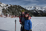 John and Beth at Ciampac Ski Area, Canazei, Italy,