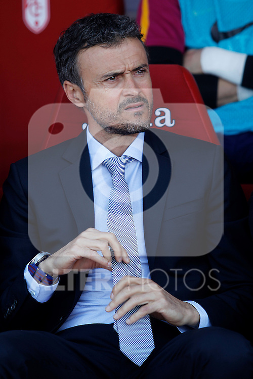 FC Barcelona's coach Luis Enrique Martinez during La Liga match. May 14,2016. (ALTERPHOTOS/Acero)