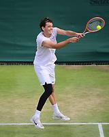 3rd July 2021; Wimbledon, SW London. England; Wimbledon Tennis Championships, day 6;  Taylor Fritz USA