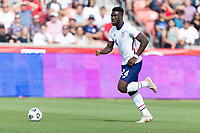 SANDY, UT - JUNE 10: Daryl Dike #24 of the United States moves towards the box during a game between Costa Rica and USMNT at Rio Tinto Stadium on June 10, 2021 in Sandy, Utah.
