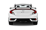 Straight rear view of 2019 Honda Civic-Si-Coupe - 2 Door Coupe Rear View  stock images
