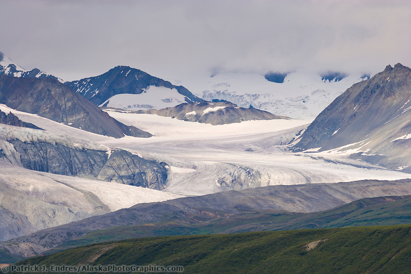 Gulkana glacier, Alaska Range mountains, Interior, Alaska