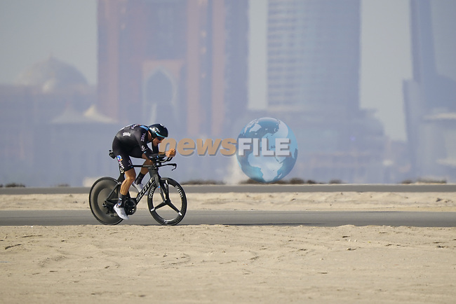 Nikias Arndt (GER) Team DSM during Stage 2 of the 2021 UAE Tour an individual time trial running 13km around  Al Hudayriyat Island, Abu Dhabi, UAE. 22nd February 2021.  <br /> Picture: Eoin Clarke | Cyclefile<br /> <br /> All photos usage must carry mandatory copyright credit (© Cyclefile | Eoin Clarke)