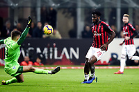 Frank Kessie of AC Milan scores goal of 2-0 <br /> Milano 22-02-2019 Stadio Giuseppe Meazza in an Siro Football Serie A 2018/2019 AC Milan - Empoli <br /> Foto Image Sport / Insidefoto