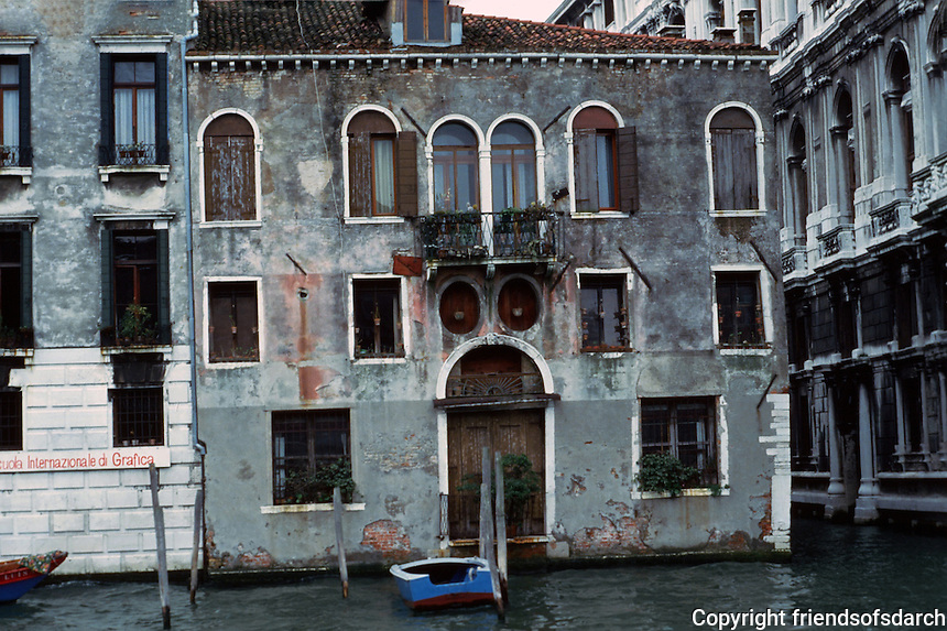 Venice:   Modest Palazzo on Grand Canal.  Photo '83.