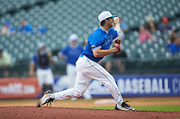 Duke Blue Devils relief pitcher Kevin Lewallyn (40) in action against the Florida State Seminoles in the first semifinal of the 2017 ACC Baseball Championship at Louisville Slugger Field on May 27, 2017 in Louisville, Kentucky. The Seminoles defeated the Blue Devils 5-1. (Brian Westerholt/Four Seam Images)