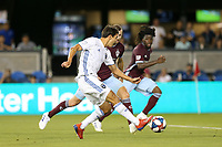 SAN JOSE, CA - JULY 27: Shea Salinas goal during a Major League Soccer (MLS) match between the San Jose Earthquakes and the Colorado Rapids on July 27, 2019 at Avaya Stadium in San Jose, California.