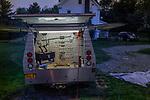 Malmquist's custom truck. Cochecton, New York. 08/23/2019. Photo by Thierry Gourjon.