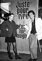 Montreal (qc) CANADA - file Photo - 1991 - <br /> <br /> <br />  - Festival Juste Pour Rire 1991 - Valerie Lemercier (L) and Pierre Palmade (R)